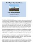 Fort Payne church of Christ - The Weekly Moment